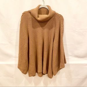 Anthropologie Camel oversized chunky sweater